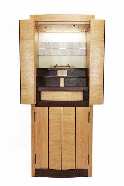 仏壇N.10 (ず)モダン リスン201 15×40 タモ・ウォールナットコンビ