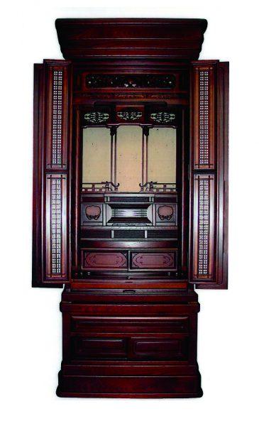 仏壇N.30 (小)欅 宝相華20×56