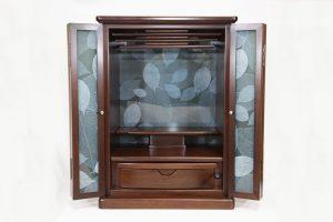 仏壇N.69 (遠)Holy glass Loofah18号 ウォールナット ホワイトリーフ