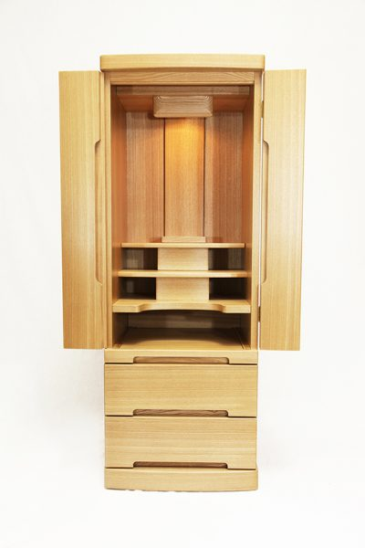 仏壇N.17 (ず)モダン アピタⅢ15×41 タモ 1本立 ナチュラル色